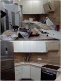 Уборка кухонного гарнитура после ремонта г.Видное.