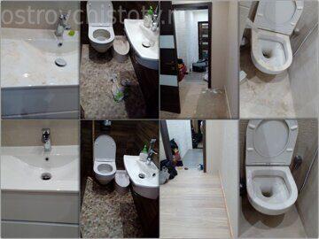 Уборка после ремонта квартиры Бутово Парк 16, до и после очистки