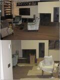 Уборка первого этажа коттеджа. До и после очистки после ремонта.