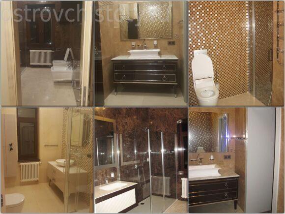 Уборка санузлов и ванных комнат в коттедже. После ремонта уборка.