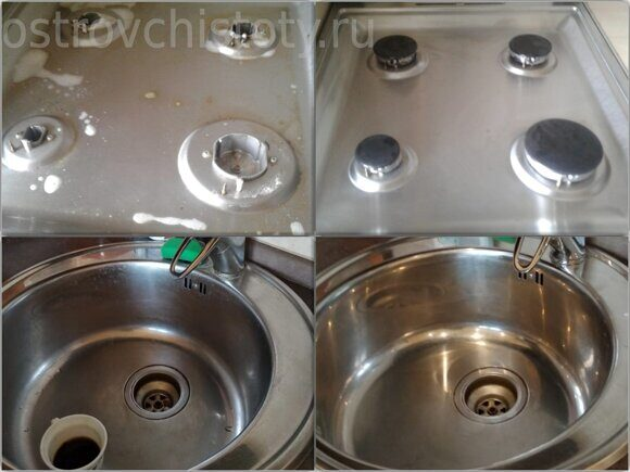 Очистка на кухне, чистящие средства