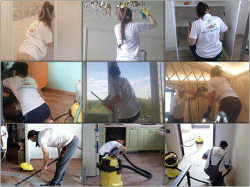 Профессиональная уборка в процессе, наши сотрудники