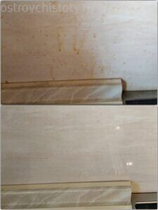 Очистка кухонного фартука